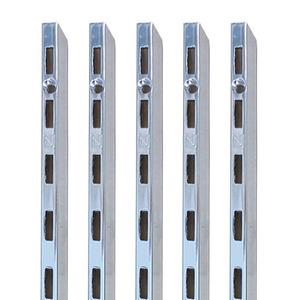 SL-201 [25피치용]네오픽스 찬넬 기둥300,600,900,1200,15001800,2100,2400mm, (1개)▶네오픽스찬넬기둥/찬넬브라켓/찬넬부속/각형찬넬선반/벽걸이선반/세탁실정리선반/수납가구/세탁실정리선반/DIY선반